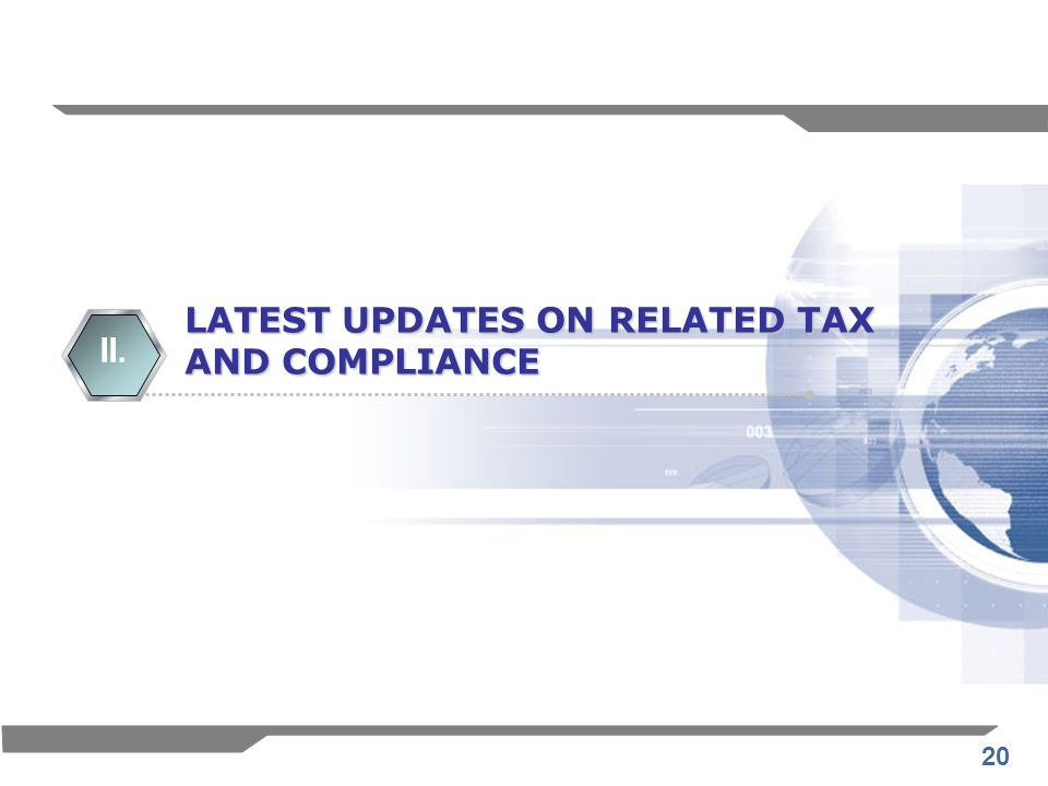 LATEST UPDATES ON RELATED TAX
