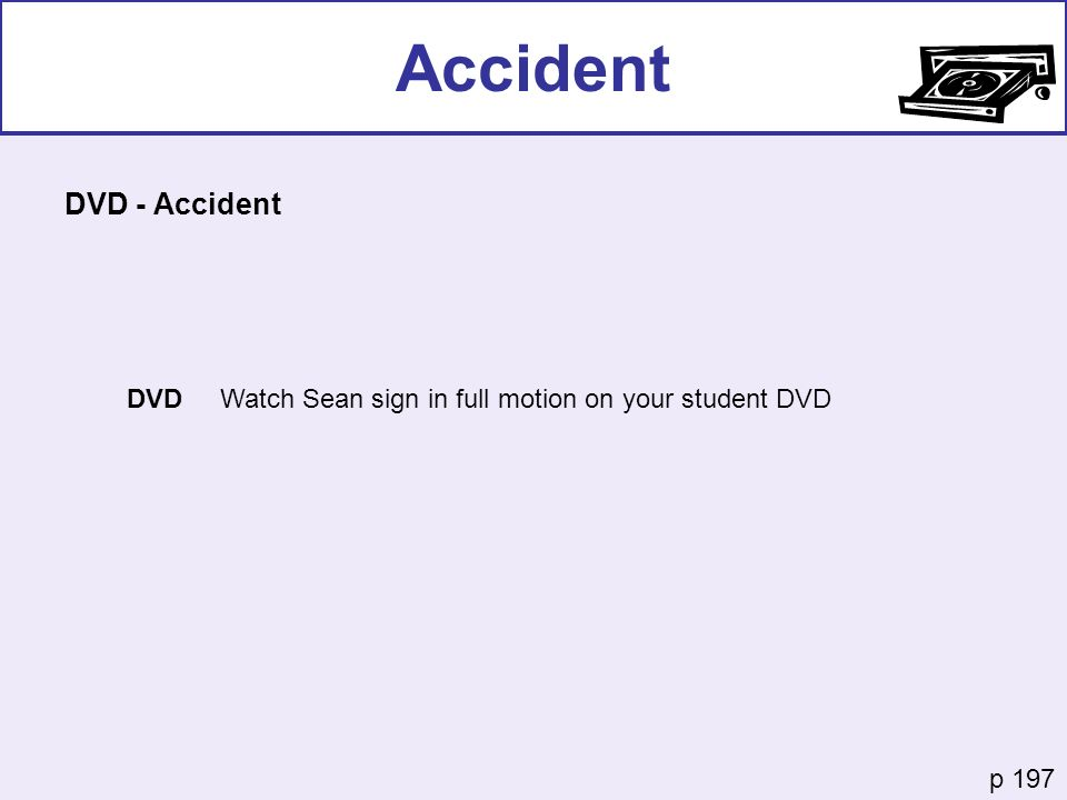 Accident DVD - Accident