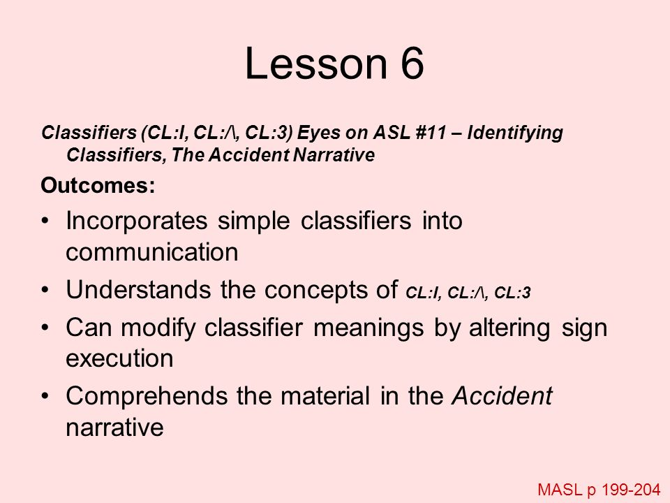 Lesson 6 Incorporates simple classifiers into communication