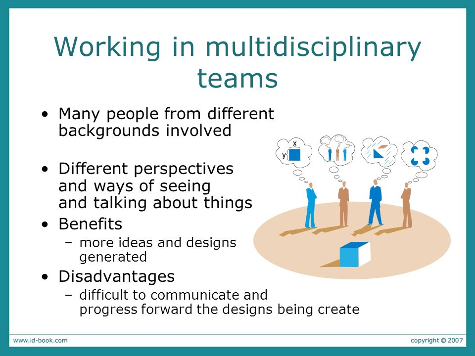 Working in multidisciplinary teams