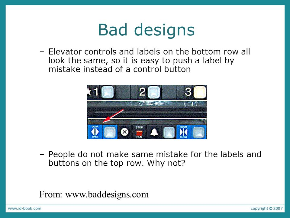 Bad designs From: