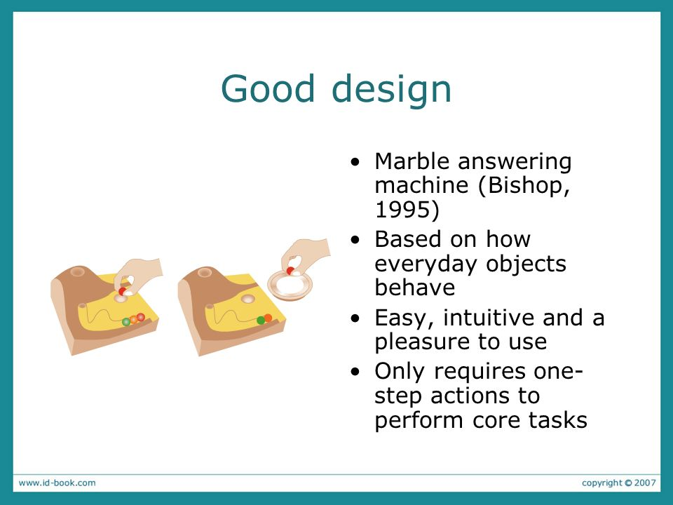 Good design Marble answering machine (Bishop, 1995)
