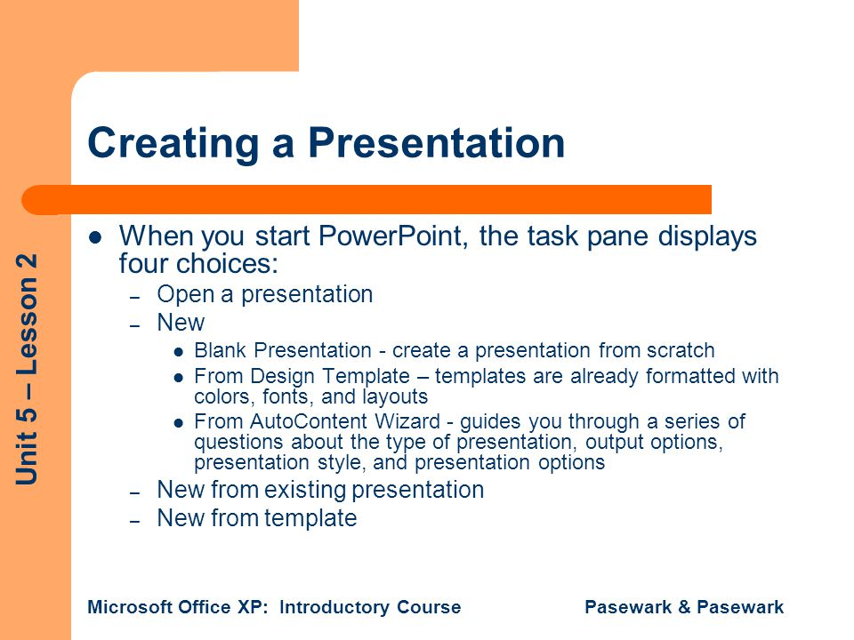 Objectives Create A New Presentation Format Slides Ppt Video