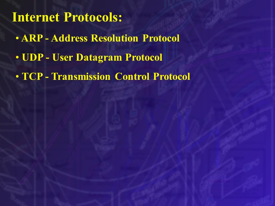 Internet Protocols: ARP - Address Resolution Protocol