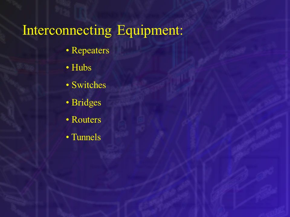 Interconnecting Equipment: