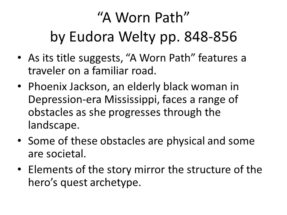 a worn path critical reading answers