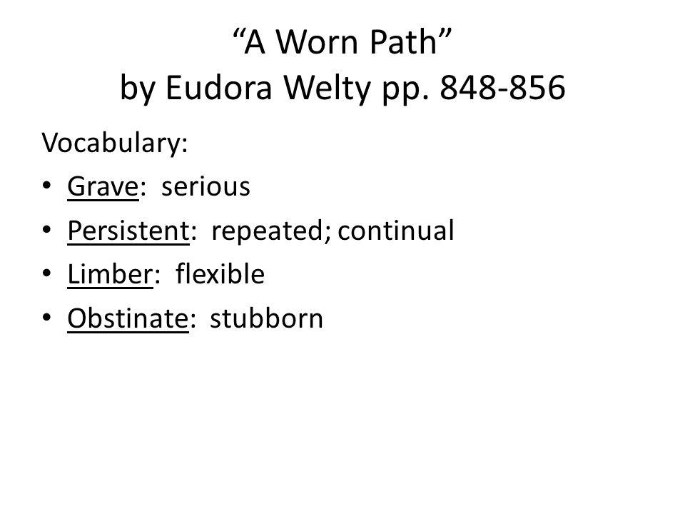 a worn path text