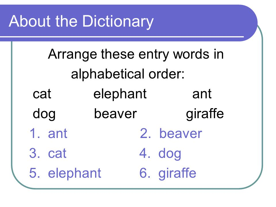 Dictionary Skills Second Grade  - ppt video online download