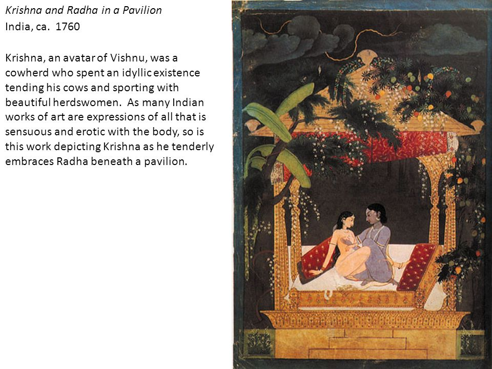 Krishna and Radha in a Pavilion