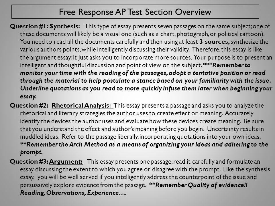 free response essay