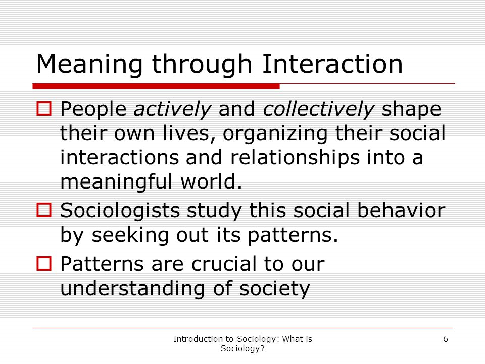 Meaning through Interaction