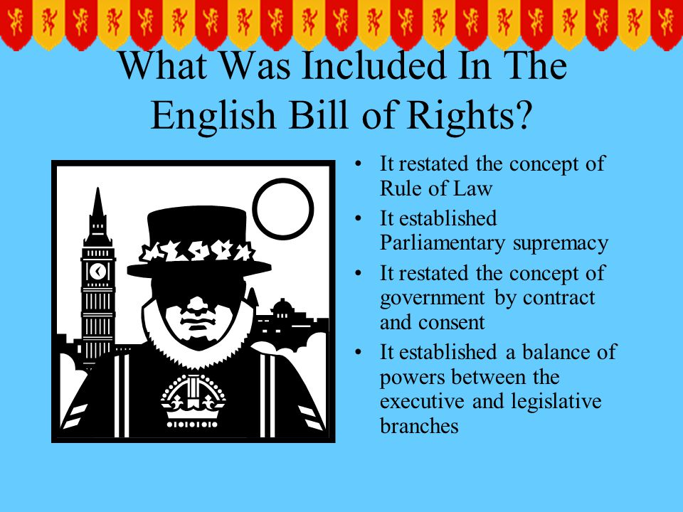 What Was Included In The English Bill of Rights