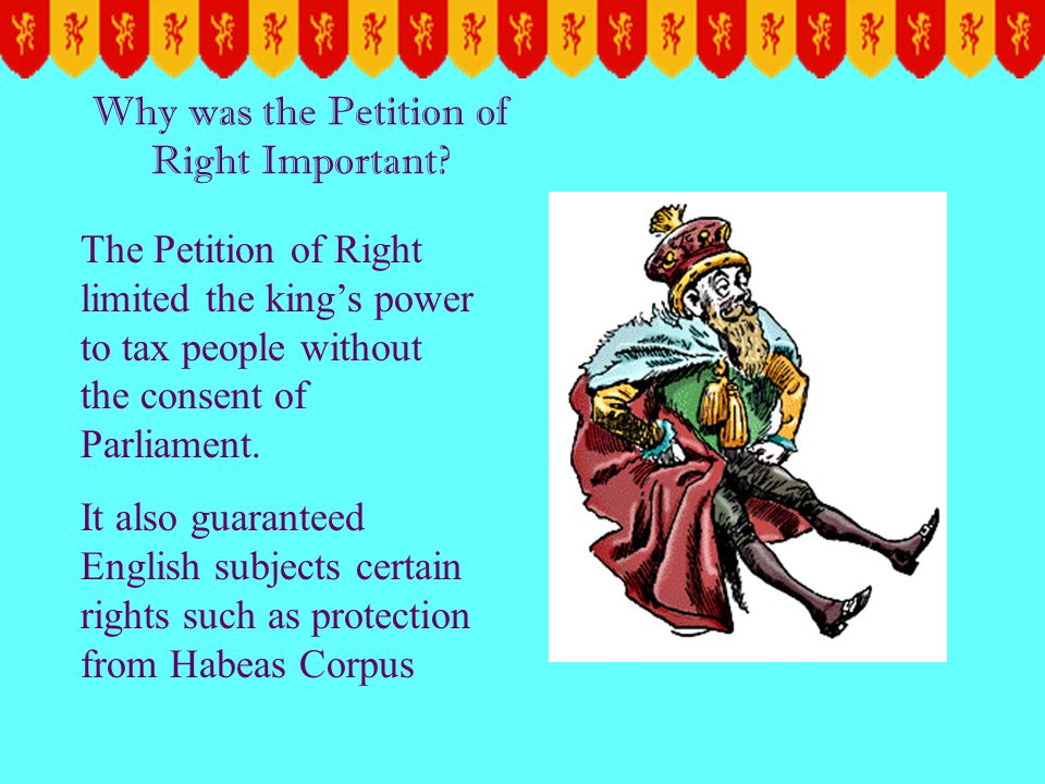 Why was the Petition of Right Important