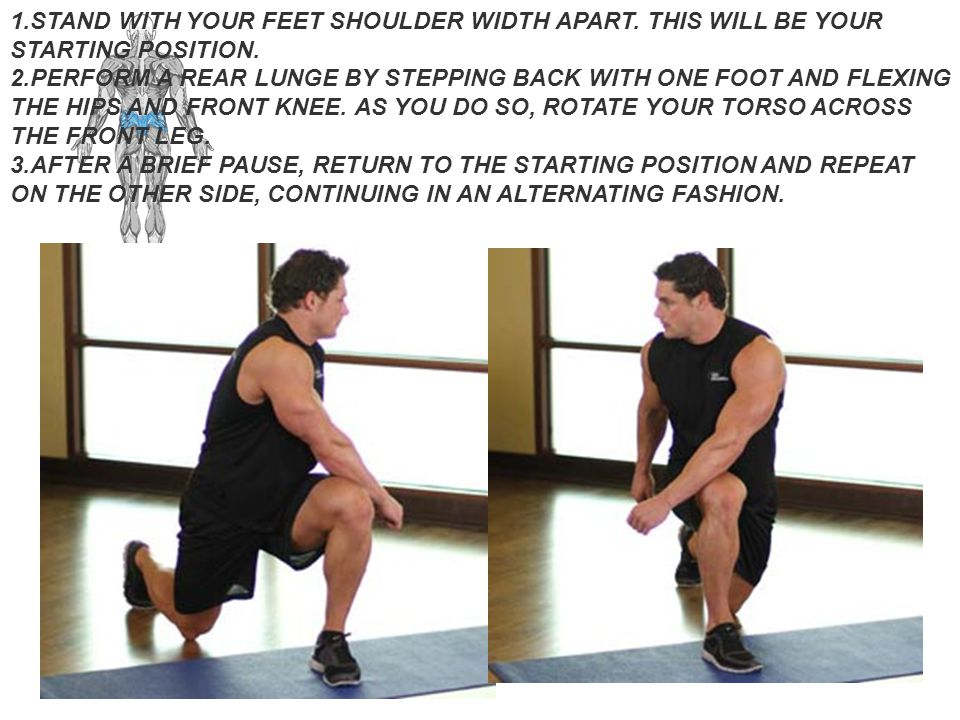 STAND WITH YOUR FEET SHOULDER WIDTH APART