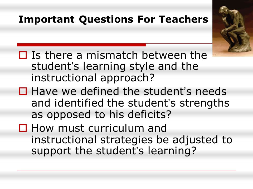 Important Questions For Teachers