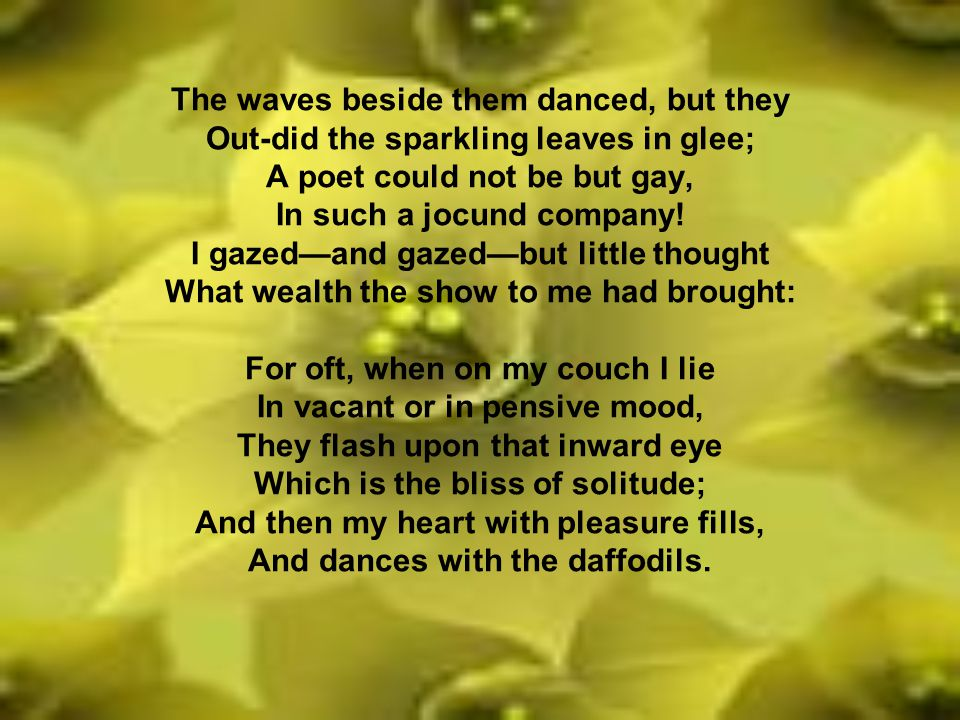 daffodils by william wordsworth meaning