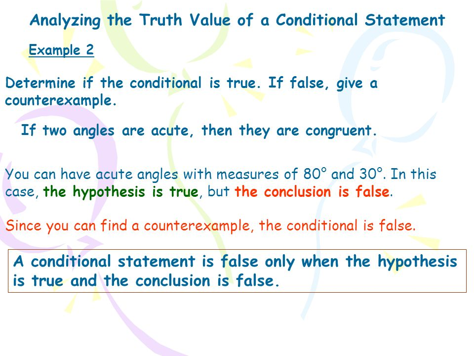 Analyzing the Truth Value of a Conditional Statement