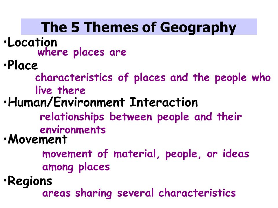 Canada And The 5 Themes Of Geography A Study Guide Ppt Video. Worksheet. The Five Themes Of Geography Worksheet At Mspartners.co