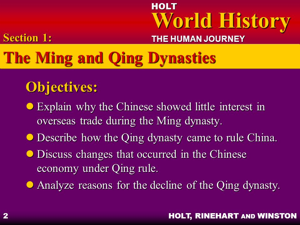 asia in transition chapter 17 section 1 the ming and qing dynasties rh slideplayer com