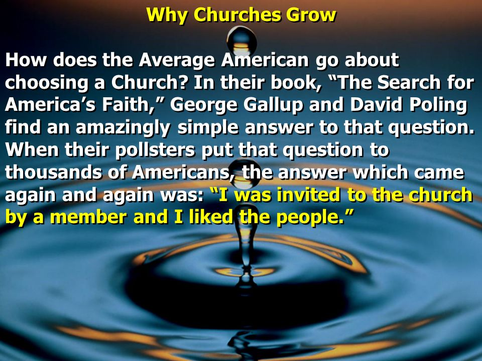 Why Churches Grow