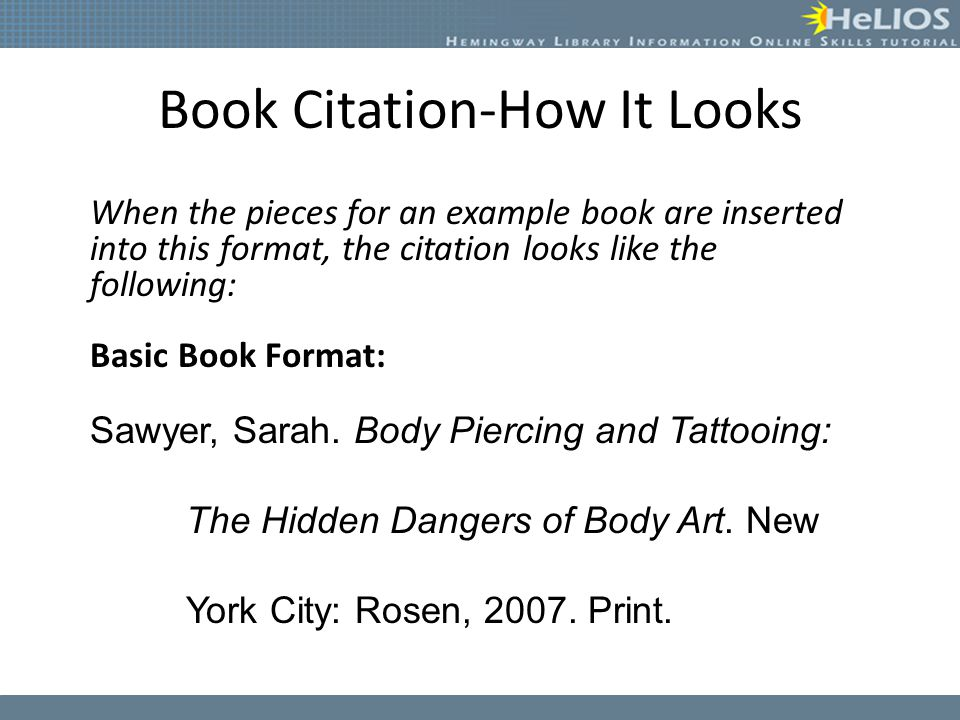 Book Citation-How It Looks