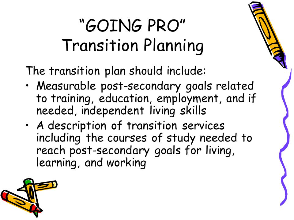 GOING PRO Transition Planning