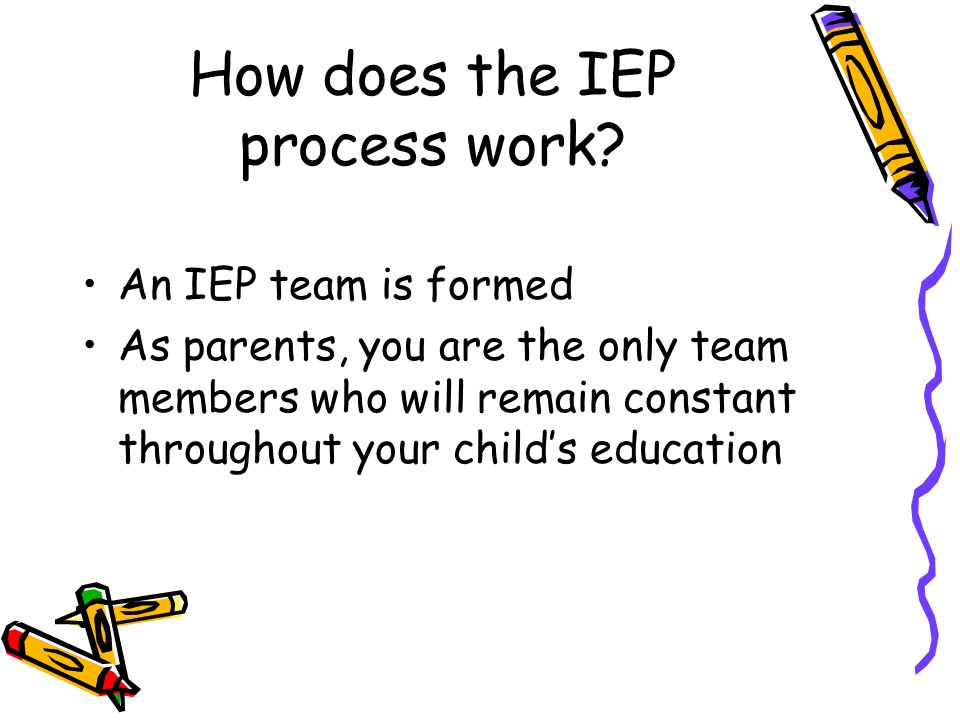 How does the IEP process work
