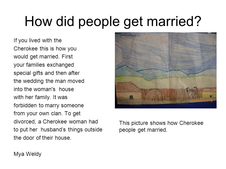 How did people get married