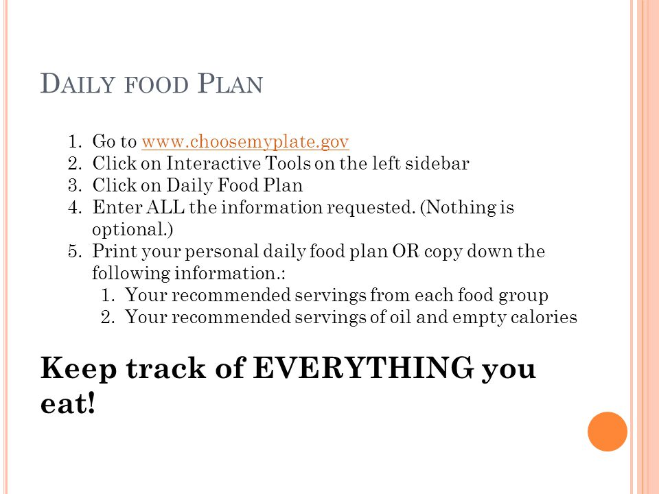 Keep track of EVERYTHING you eat!