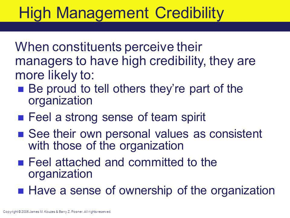 High Management Credibility