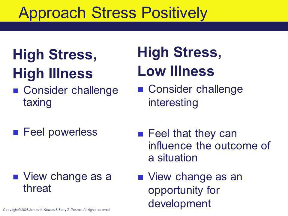 Approach Stress Positively