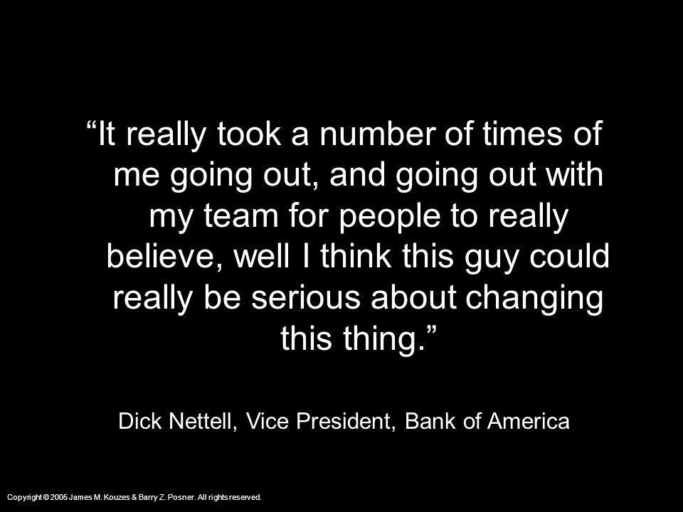 Dick Nettell, Vice President, Bank of America