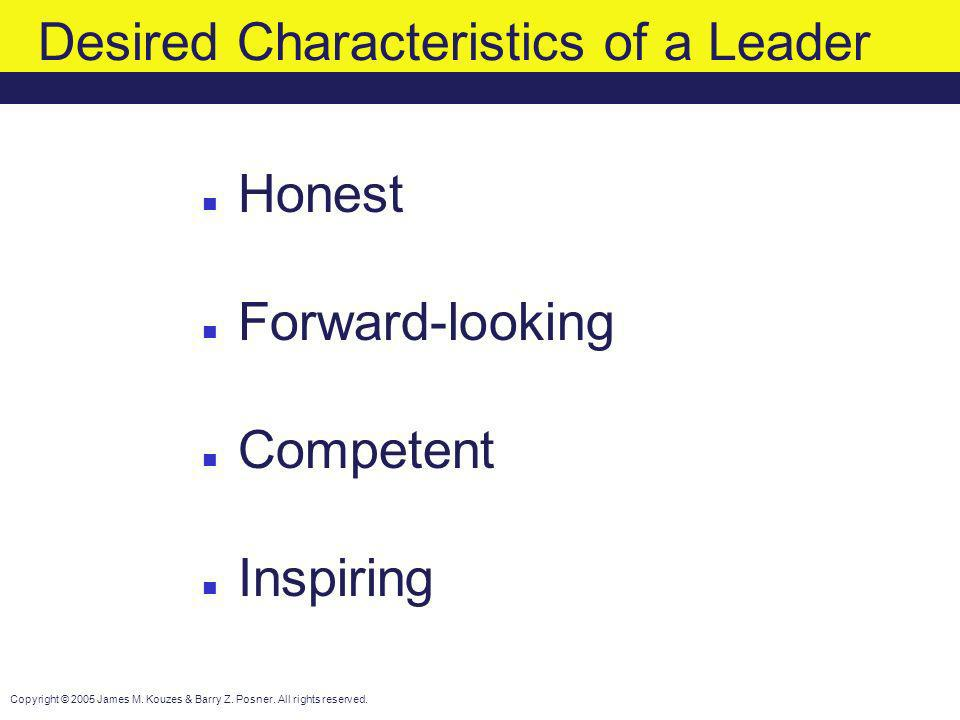 Desired Characteristics of a Leader