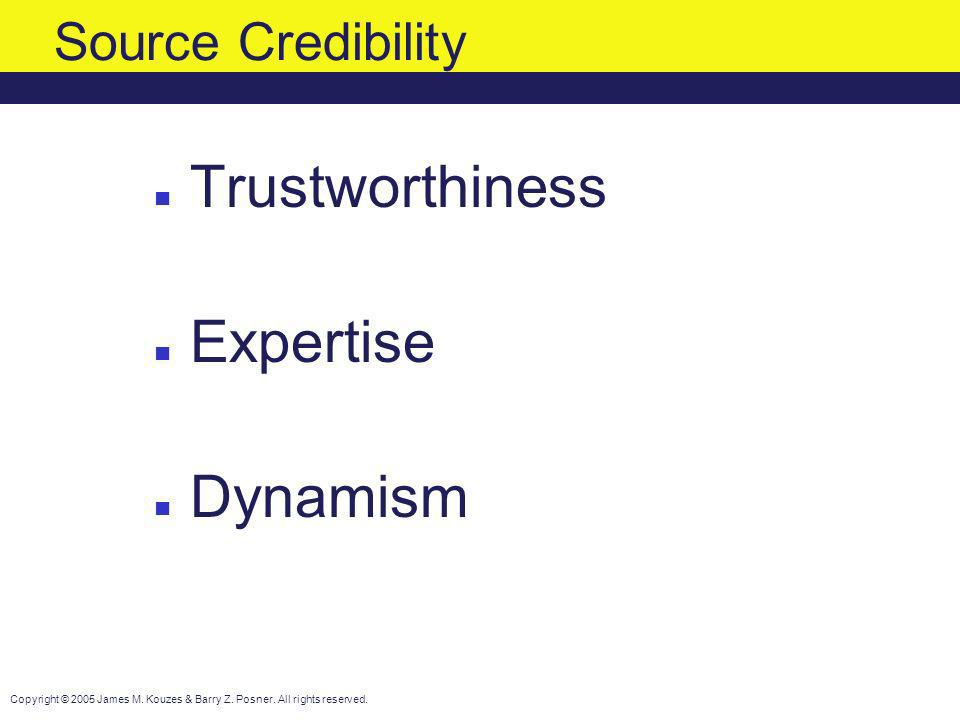 Trustworthiness Expertise Dynamism Source Credibility