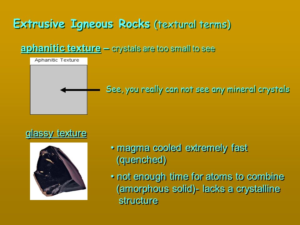 Extrusive Igneous Rocks (textural terms)