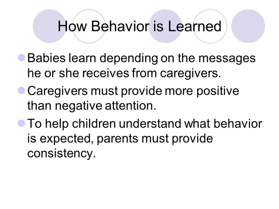 How Behavior is Learned