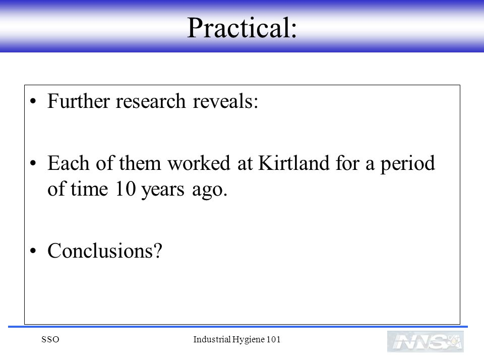 Practical: Further research reveals: