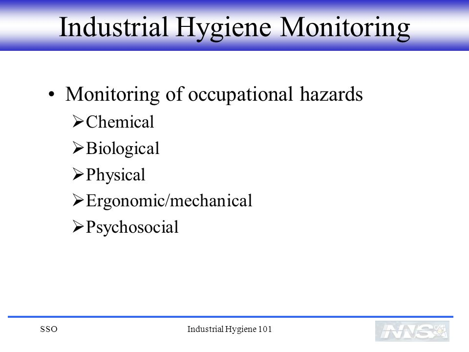 Industrial Hygiene Monitoring