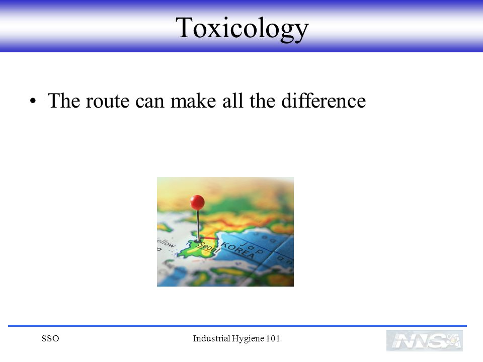 Toxicology The route can make all the difference SSO