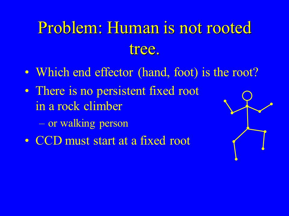 Problem: Human is not rooted tree.