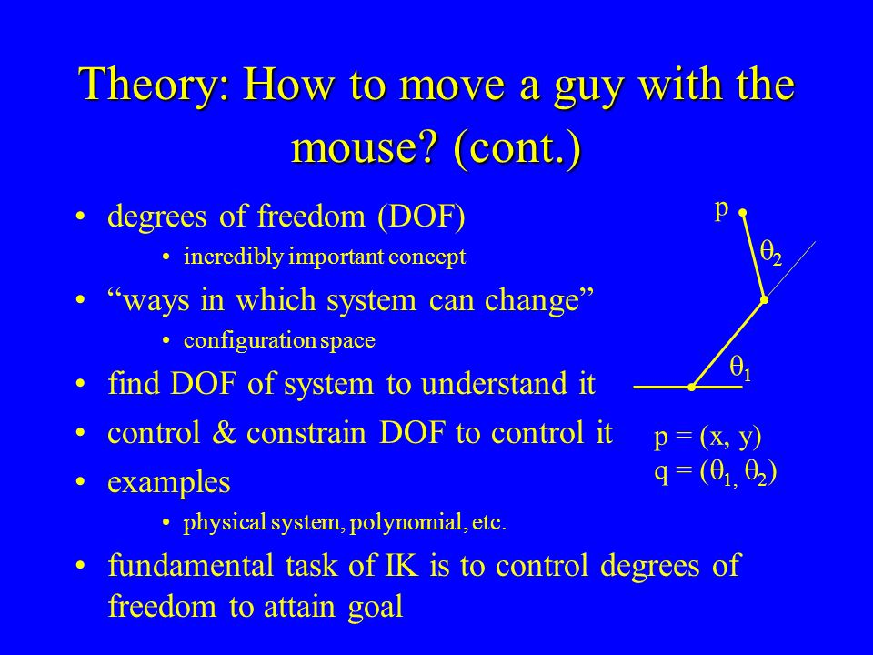 Theory: How to move a guy with the mouse (cont.)