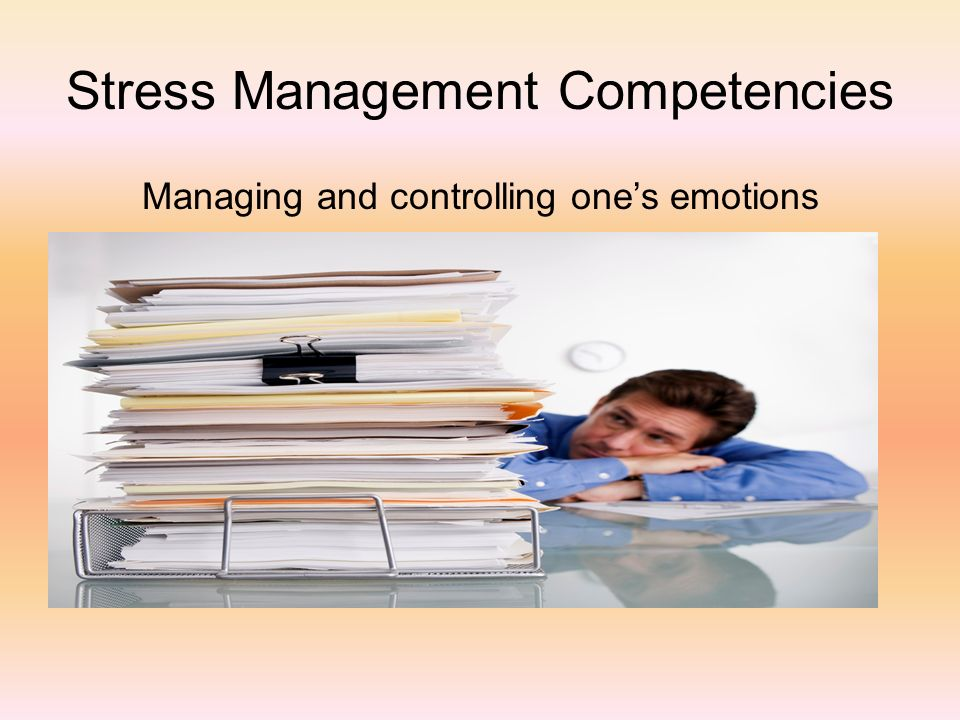 Stress Management Competencies
