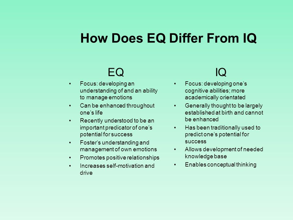 How Does EQ Differ From IQ