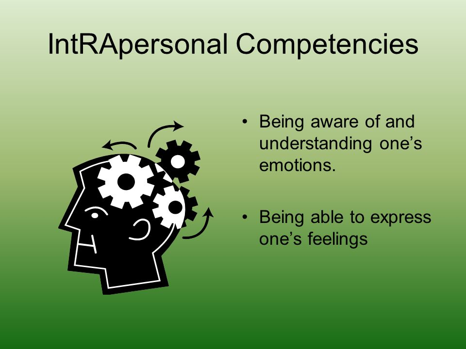 IntRApersonal Competencies
