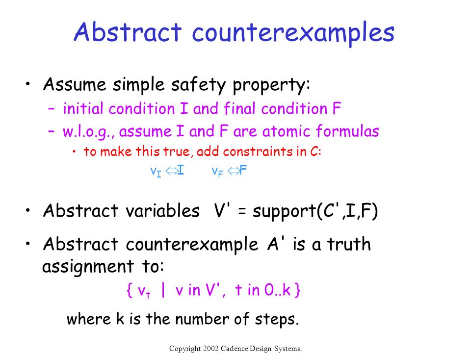 Abstract counterexamples