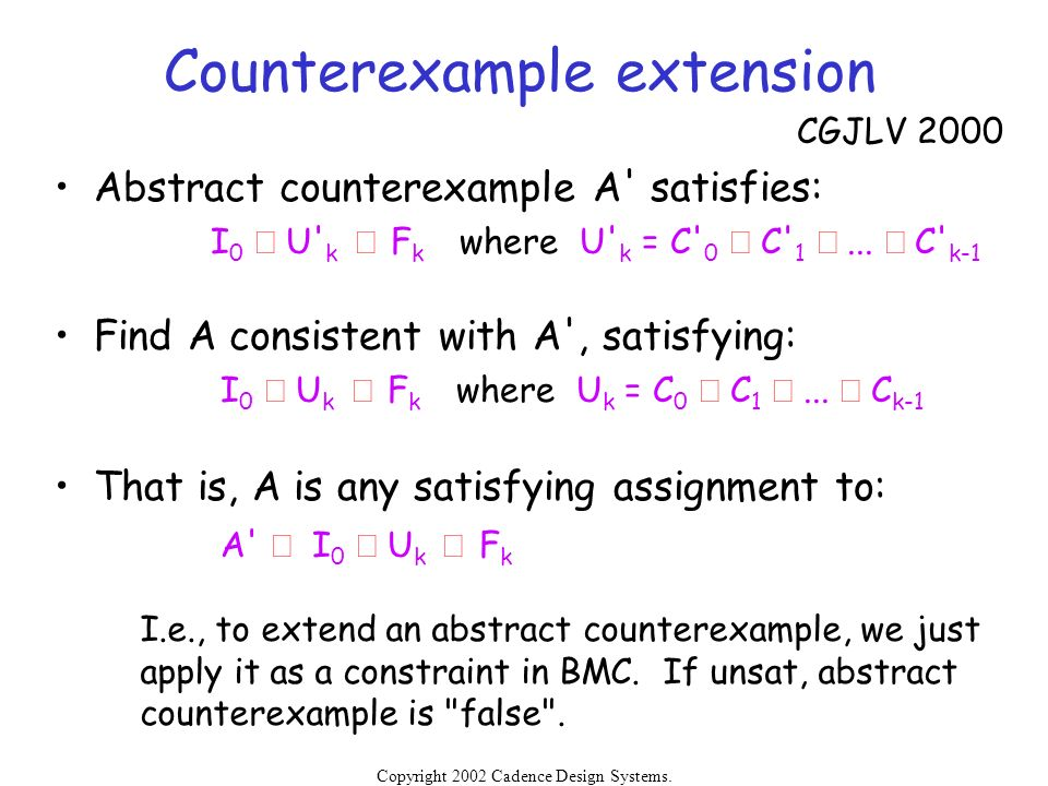 Counterexample extension