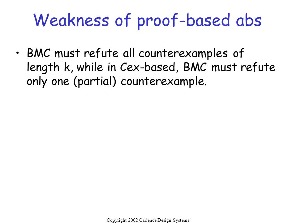 Weakness of proof-based abs