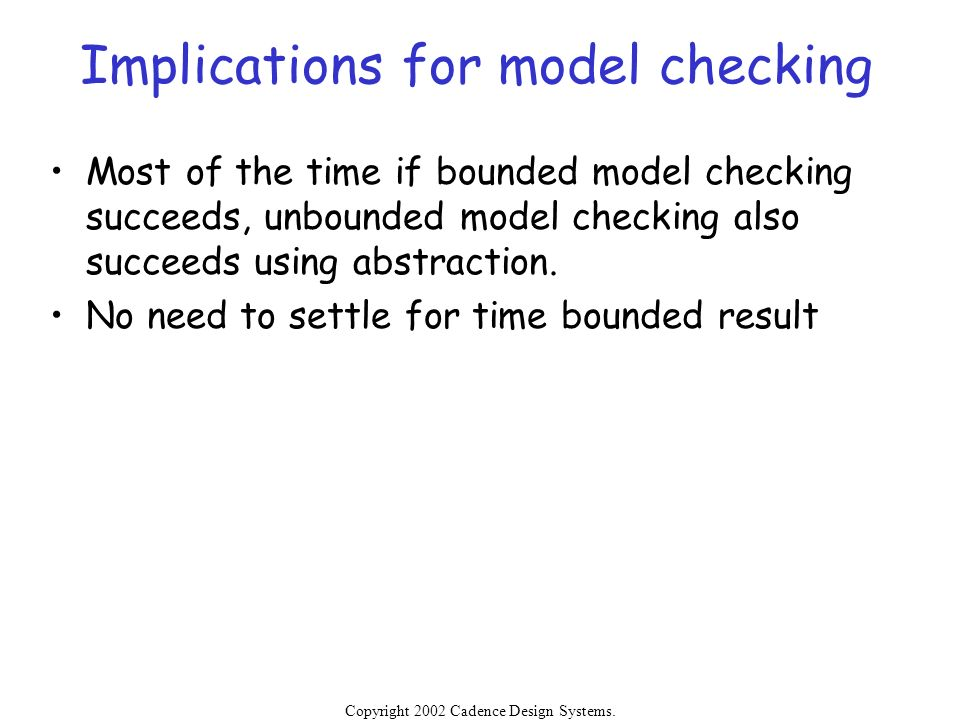 Implications for model checking