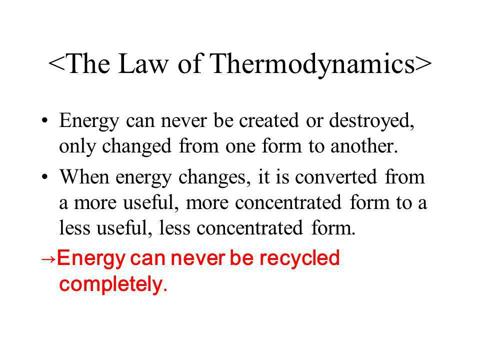 <The Law of Thermodynamics>