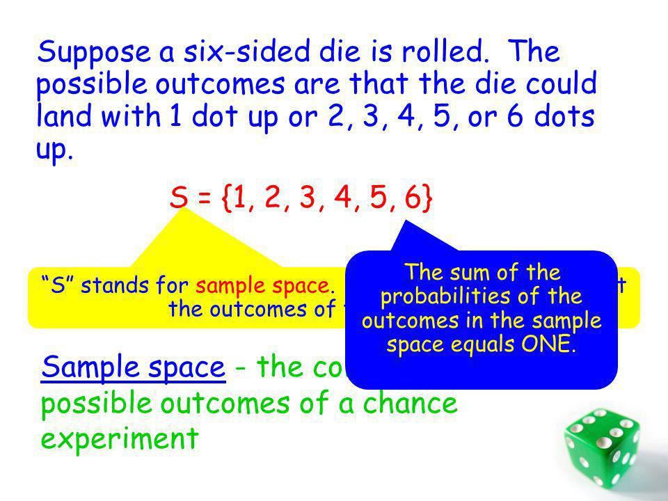 Suppose a six-sided die is rolled